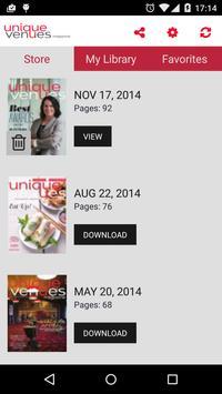 Unique Venues Magazine screenshot 1