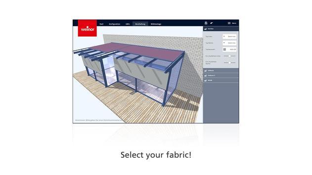 weinor 3D designer screenshot 2