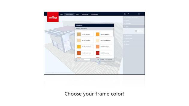 weinor 3D designer screenshot 3
