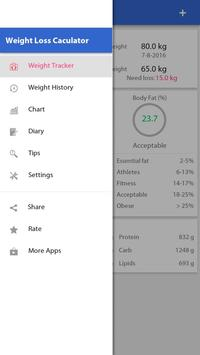 Weight loss, Calorie counter screenshot 2
