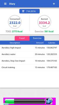 Weight loss, Calorie counter screenshot 3