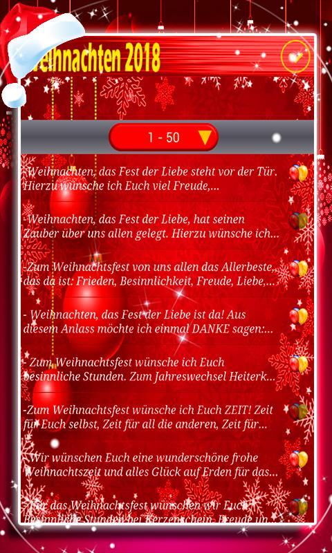 Weihnachtswünsche Sms Besinnlich.Weihnachtsgrüße 2018 For Android Apk Download