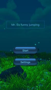Mr. Es funny jumping poster