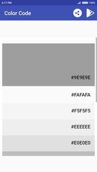 Material Design Color Code apk screenshot