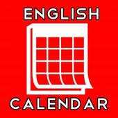 English Calendar 2018 icon