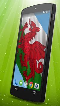 Welsh Flag Live Wallpaper apk screenshot