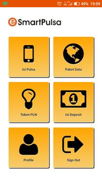 E-Smart Pulsa poster
