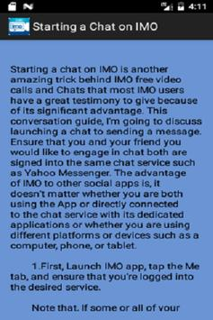 Free Imo Video Chat Guide screenshot 1