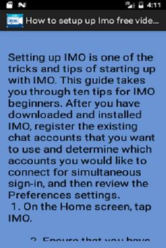 Free Imo Video Chat Guide screenshot 2