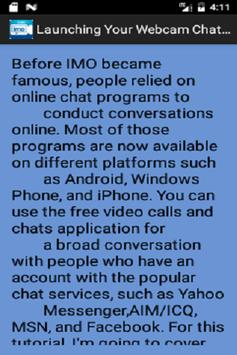 Free Imo Video Chat Guide screenshot 8