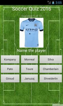 Soccer 2016 Quiz apk screenshot