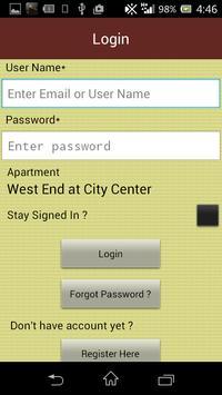 West End at City Center Apts apk screenshot