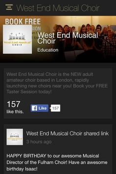 West End Musical Choir apk screenshot