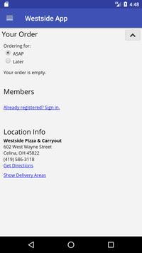Westside Pizza & Carryout apk screenshot