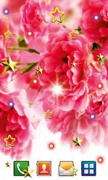 Pink Flowers live wallpaper screenshot 1