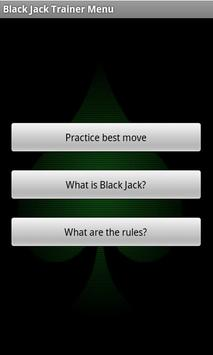 Black Jack Trainer apk screenshot