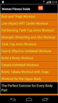 women fitness guide poster
