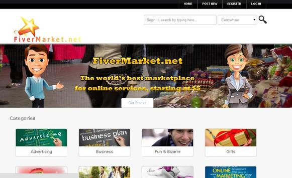 fivermarket marketplace apk screenshot