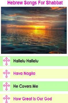 Hebrew Songs for Shabbat poster