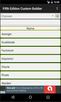 Fifth Edition Custom Builder screenshot 1