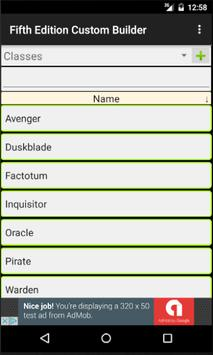 Fifth Edition Custom Builder screenshot 2
