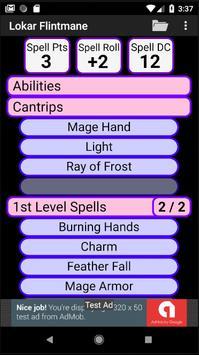 Second Edition Character Sheet screenshot 3