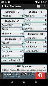 Second Edition Character Sheet screenshot 1