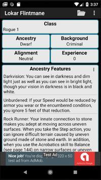 Second Edition Character Sheet screenshot 4