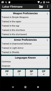 Second Edition Character Sheet screenshot 6
