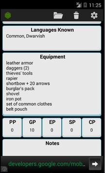 Fifth Edition Character Sheet apk स्क्रीनशॉट