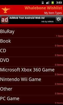 Whalebone Wishlist screenshot 2