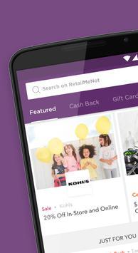 RetailMeNot - Coupons, Deals & Discount Shopping poster