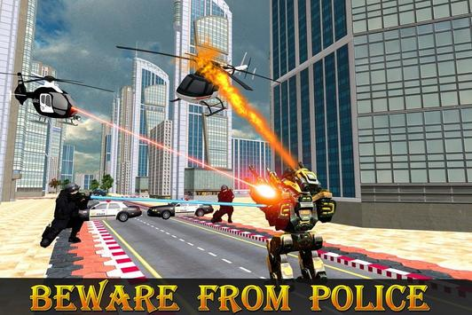 Police Robot Transform Rampage apk screenshot