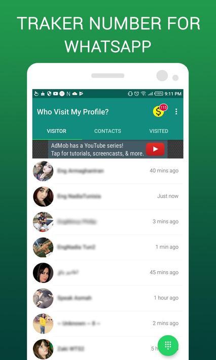 Wer hat mein Profil besucht Tracker für WhatsApp für