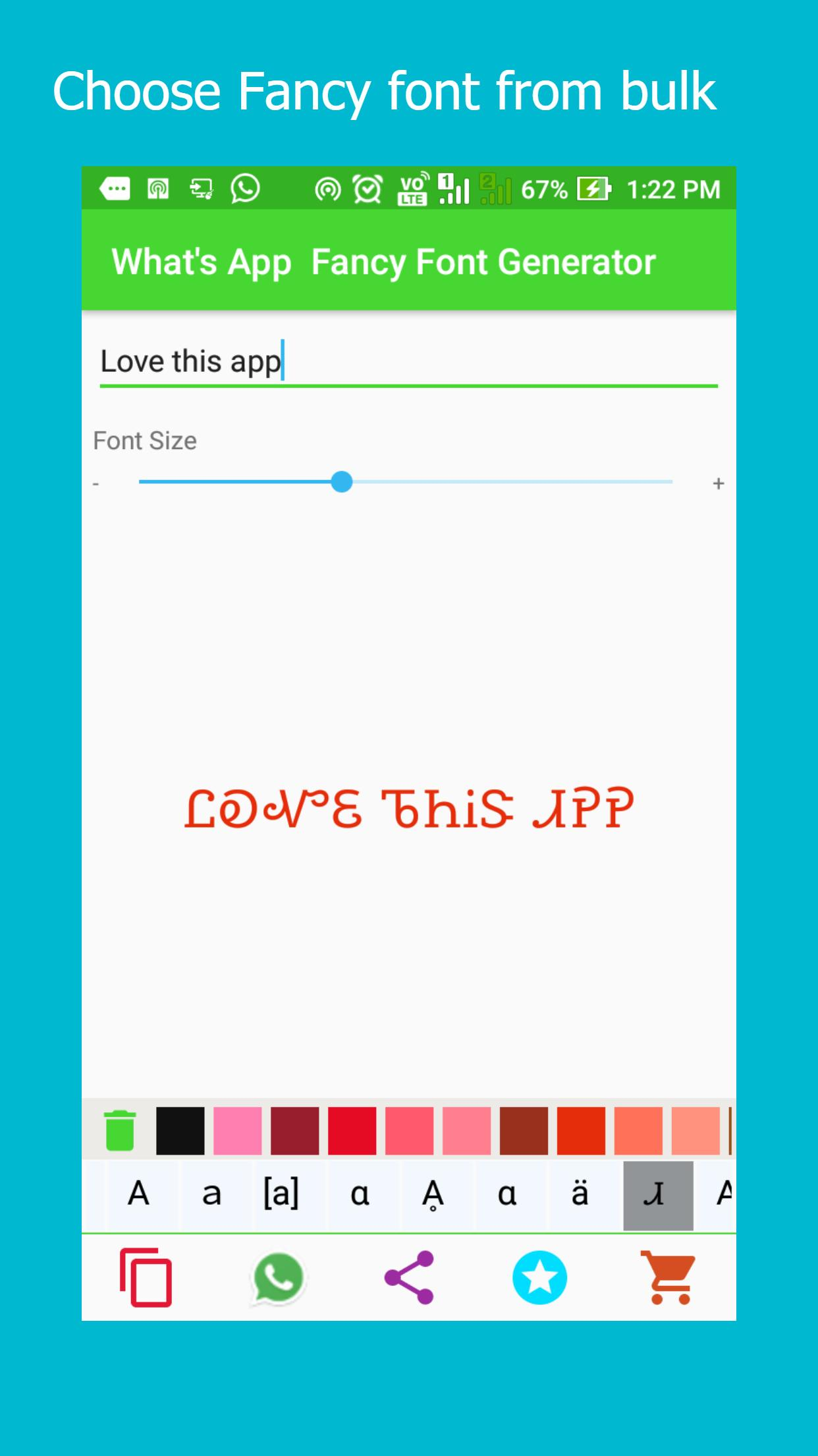 WhatsApp Fancy Font Generator for Android - APK Download