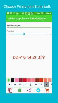 WhatsApp Fancy Font Generator apk screenshot