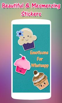 Free Emoticons For Whatsapp poster