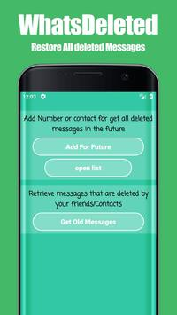 WhatsDeleted: View Deleted Whats Messages poster