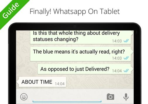 Guide WhatsApp to Tablets screenshot 4