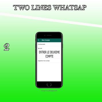 Watsapp 2 lines Affiche