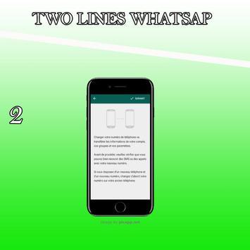 Watsapp 2 lines capture d'écran 1