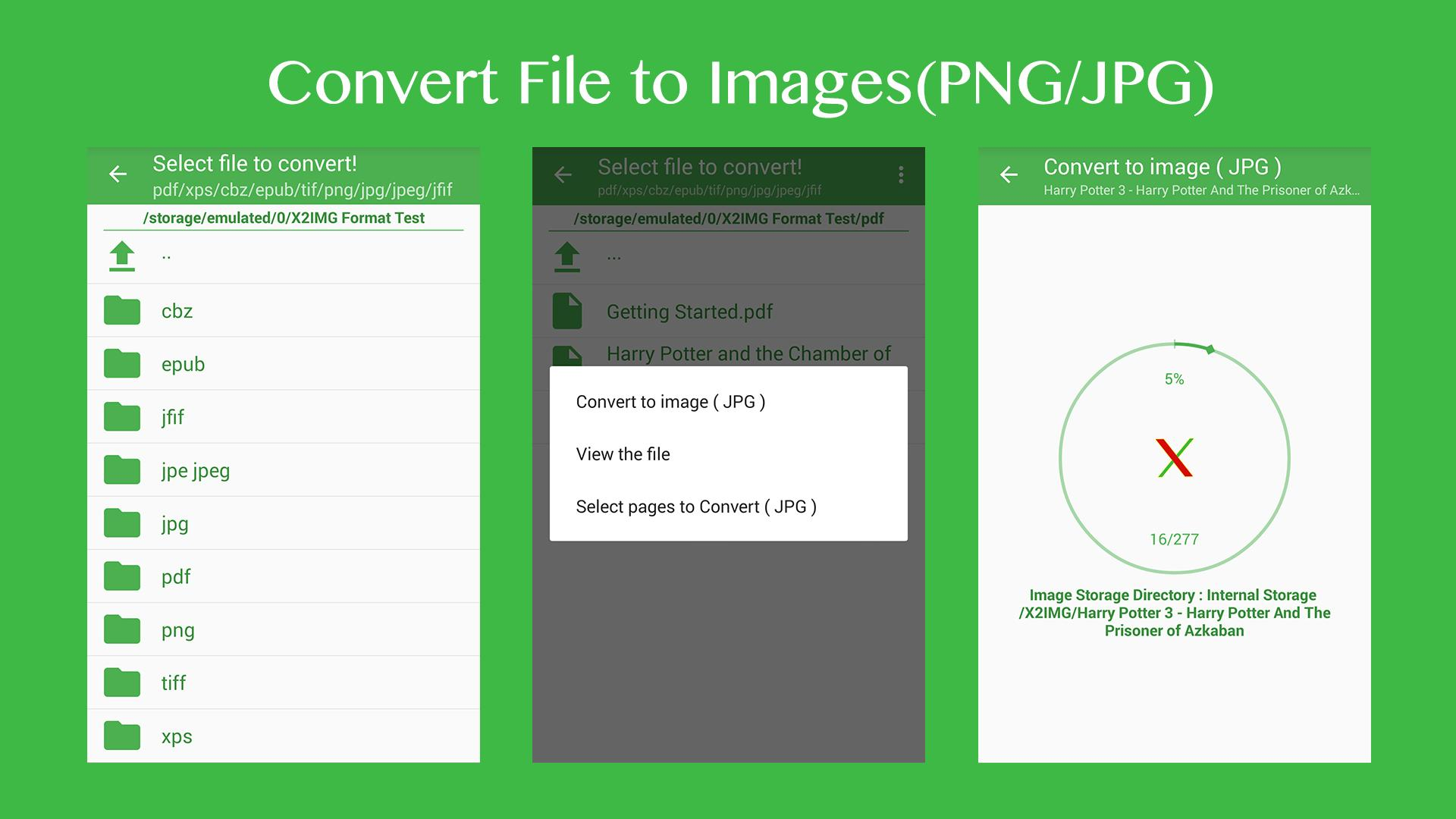 X2IMG - Convert PDF to JPG for Android - APK Download