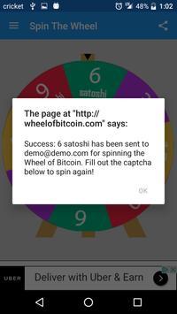 Wheel of Bitcoin screenshot 1