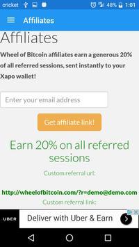 Wheel of Bitcoin screenshot 2
