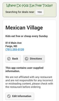 Where Do Kids Eat Free Today? screenshot 1