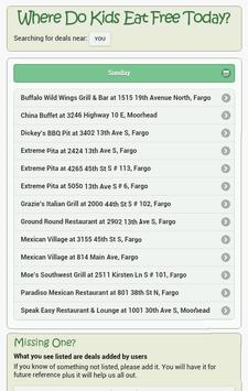 Where Do Kids Eat Free Today? screenshot 4