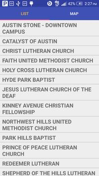 Austin Church Finder poster