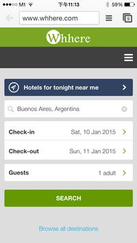 Whhere - Find Hotels & Flights apk screenshot