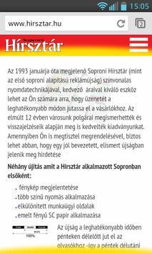 Soproni Hírsztár apk screenshot