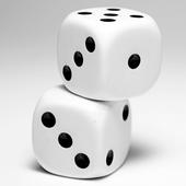white dice live wallpaper icon